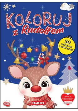 Koloruj z Rudolfem z naklejkami