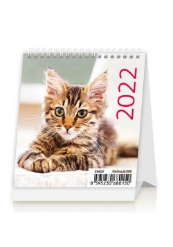 Kalendarz 2022 biurkowy mini Kotki HELMA