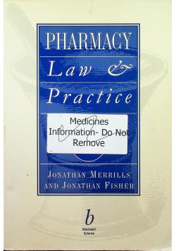 Pharmacy Law & Practice
