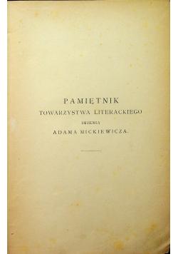 Pamiętniki towarzystwa literackiego imienia Adama Mickiewicza  1890 r