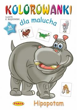 Kolorowanki dla malucha Hipopotam