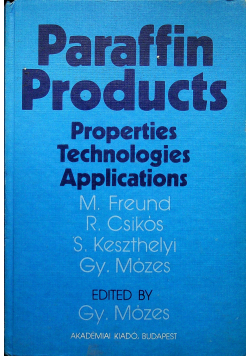 Paraffin Products Properties technologies applications