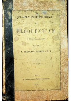 Summa Institutionis ad Eloquentiam 1876r