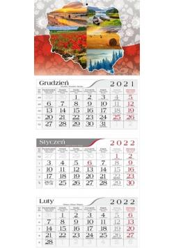 Kalendarz 2022 Trójdzielny Polska CRUX