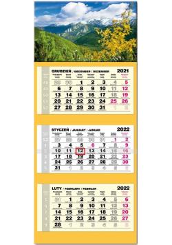 Kalendarz 2022 trójdzielny lux Tatry