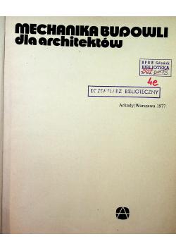 Mechanika Budowli dla architektów