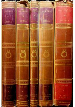 Mickiewicz Dzieła 5 tomów