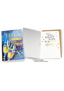 Karnet MP-0041 Urodziny szampan