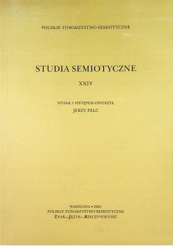 Studia semiotyczne XXIV