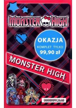 Monster High. Komplet 4 powieści + notes