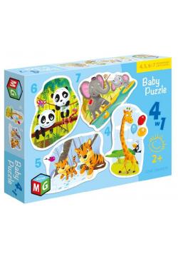 Baby Puzzle 4w1 Dzikie zwierzęta