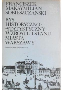 Rys historyczno  statystyczny wzrostu i stanu miasta Warszawy