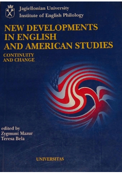 New developments an english and american studies
