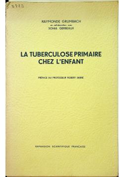 La tuberculose primaire chez lenfant