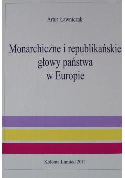 Monarchiczne i republikańskie głowy państwa w Europie