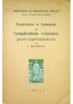 Prophylaxiew et Traitement des Complications veineuses post operatoires