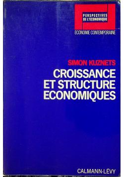 Croissance et structure economiques