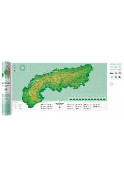 Mapa zdrapka - Travel Map Alps