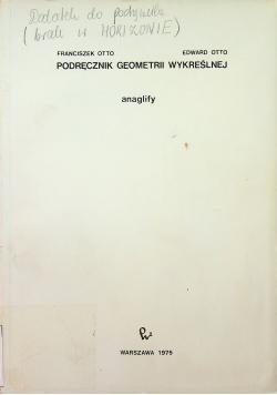 Podręcznik geometrii wykreślnej Anaglify