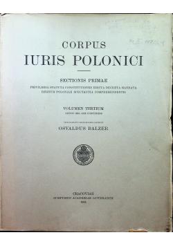 Corpus Iuris Polonici Tom III 1906 r