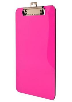 Deska z metalowym klipem A4 różowa BD641-R