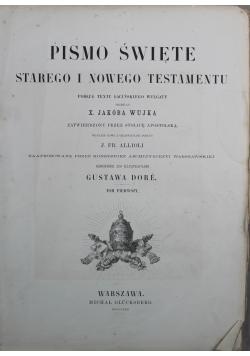 Pismo Święte w przekładzie Jakóba Wujka Tom I 1873 r.