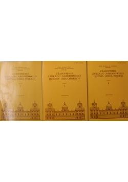 Czasopismo Zakładu Narodowego imienia Ossolińskich 3 zeszyty