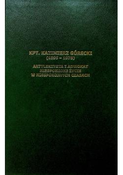 KPT Kazimierz Górecki 1896 1978 Artylerzysta i adwokat