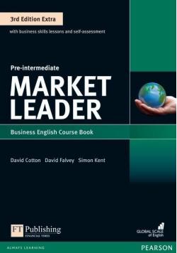 Pre-intermediate Market Leader business English Course book + płyta CD