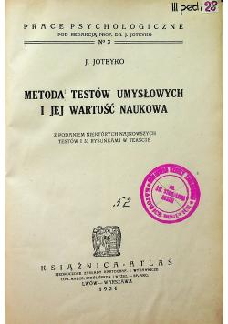 Metoda Testów Umysłowych i jej wartość naukowa 1924 r.