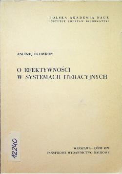 O efektywności w systemach iteracyjnych