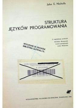 Struktura języków programowania