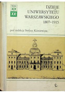 Dzieje Uniwersytetu Warszawskiego 1807-1915