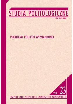 Studia politologiczne vol 23 Problemy polityki wyznaniowej