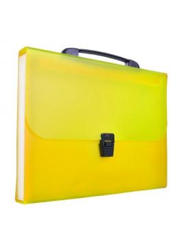 Teczka harmonijkowa z rączką A4 żółta BT623-Y