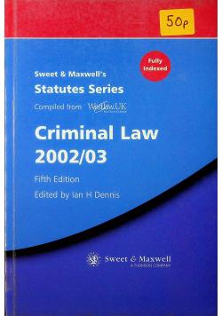 Criminal Law 2002/03