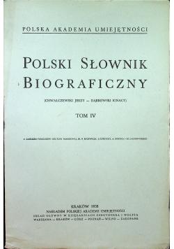 Polski Słownik Biograficzny Tom IV 1938 r