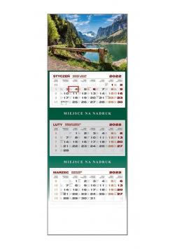 Kalendarz 2022 trójdzielny Górskie Jezioro