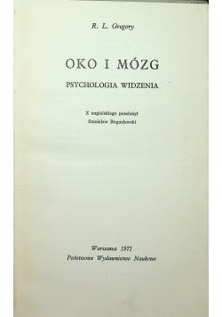 Oko i mózg Psychologia widzenia