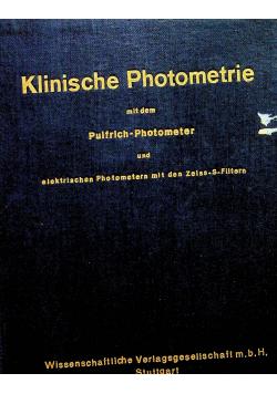 Klinische Photometrie mit dem Pulfrich Photometer