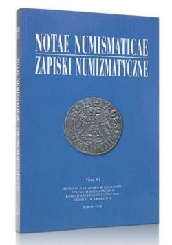 Notae Numismaticae. Zapiski Numizmatyczne T.11