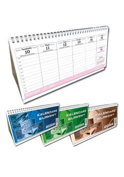 Kalendarz 2022 biurkowy poziom mały mix