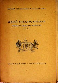 Jesień niezapomniana 1946 r plus autograf Mortkowicz Olczakowa