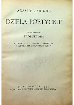Adam Mickiewicz Dzieła poetyckie 1933 r.