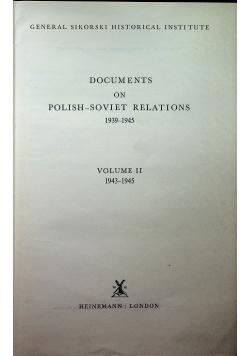 Documents on polish-soviet relations Volume II