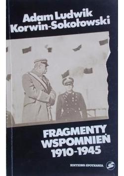 Fragmenty wspomnień 1910 1945