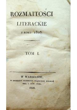 Rozmaitości literackie 1825 r.