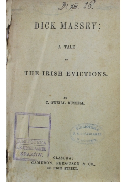 A tale of the Irish Evictions ok 1900 r