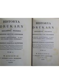 Hitorya Drykarn w Krolestwie Polskiem Reprint 1826 r Tom I i II