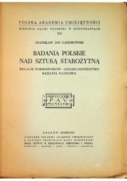 Badania Polskie nad sztuką starożytną 1948 r.
